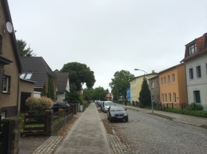 The street leading to the Sachsenhausen concentration camp  and the former site of SS officer housing