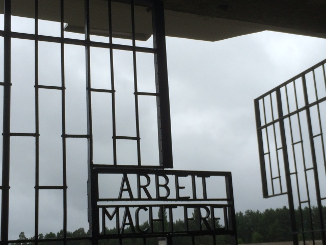 The gate to the Sachsenhausen Concentration Camp.