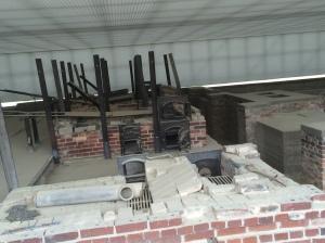 Remains of the crematorium at Sachsenhausen Concentration Camp.