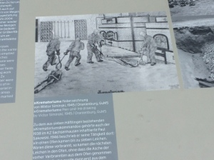 Depiction of the crematorium at Sachsenhausen Concentration Camp.