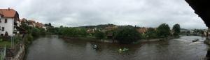Vltava River at Cesky Krumlov, Czech Republic