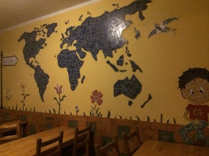 Common and Breakfast Room Wall, Central Globetrotters Hostel - Leipzig, Germany