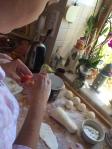 Making dumplings in Krušovice, CZ