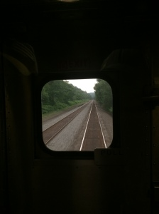 View to the rear of the Amtrak Pennsylvanian