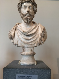 The bust of Marcus Aurelius, everyone's favorite philosopher-emperor and the last of the five good emperors
