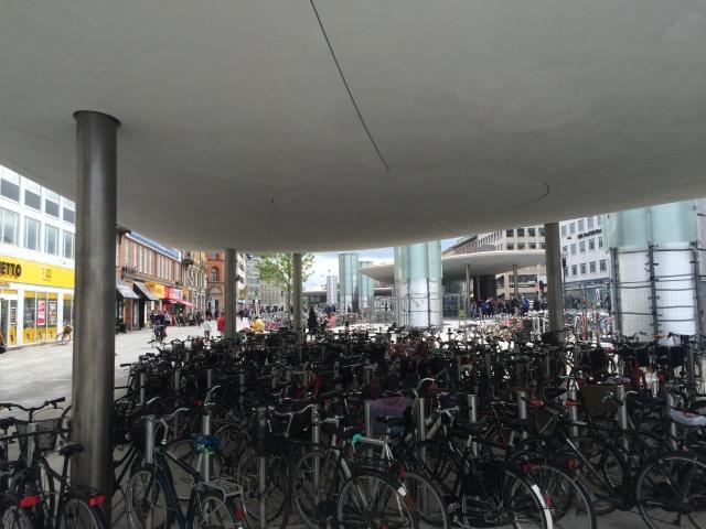 More bikes than cars here in Copenhagen, Denmark