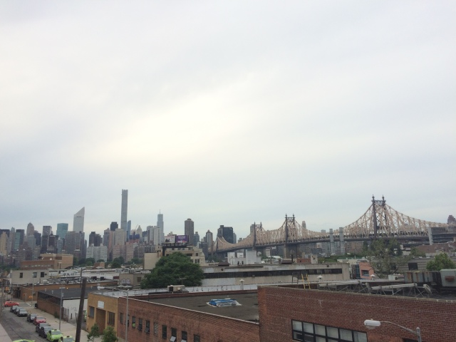 View from the roof of the Local NY Hostel in Queens.