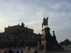 Semperoper, Opera House in Dresden, Germany (photo from July 2014)