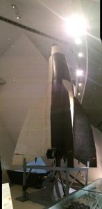 V2/A4 Rocket in the Militärhistorische Museum der Bundeswehr in Dresden, Germany