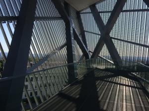 Inside the triangular prism jutting out of the Militar Historisches Museum in Dresden, Germany