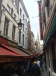 Restaurant district to the N/NE of the Grand Place in Brussels, Beglium.