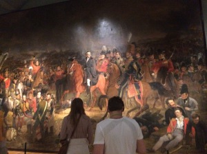 The Battle of Waterloo, Jan Willem Pieneman, 1824; Posting the photo with people for scale purposes